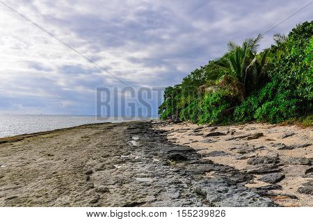 On The Beach Of Bounty Island In Fiji