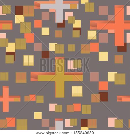 Abstract seamless pattern set : urban rhythm on grey background.