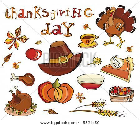 Thanksgiving day icon set. To see similar, please VISIT MY GALLERY.
