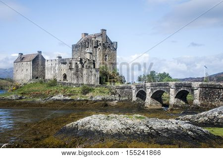 Eilean Donan Castle near Isle of Sky Scotland United Kingdom