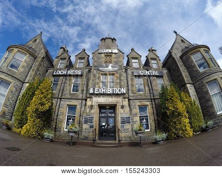 The famous Loch Ness exhibition Centre in Scotland 21.05.2016 United Kingdom