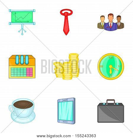 Firm icons set. Cartoon illustration of 9 firm vector icons for web