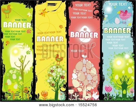 Vertical Easter banners with copy-space. To see similar, please VISIT MY GALLERY.