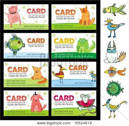 Animals cards. To see similar, please VISIT MY PORTFOLIO