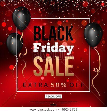 Black Friday Sale Banner. Vector illustration eps10 format.