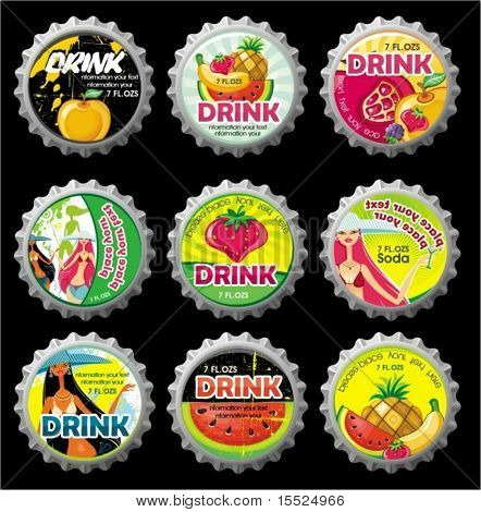 Summer bottlecaps.  To see similar, please VISIT MY PORTFOLIO
