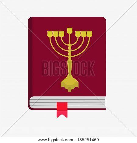 Jewish Holiday Hanukkah Icons Set. Vector Illustration