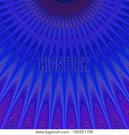 Blue heaven - abstract vector fractal art background design