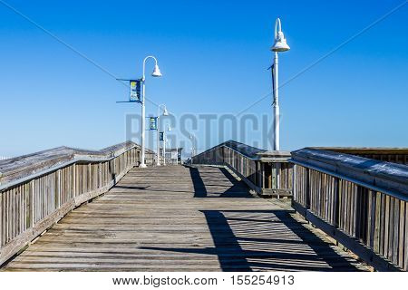 Fishing pier at Sandbridge in Virginia Beach, Virginia.