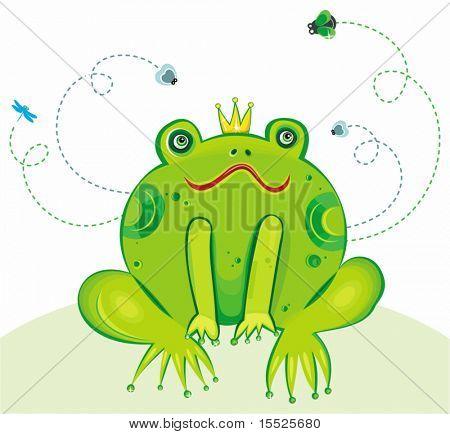 Froschkönig-Vektor-Illustration