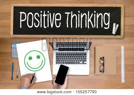 POSITIVE THINKING analysis, business, businessman, belief inspiration