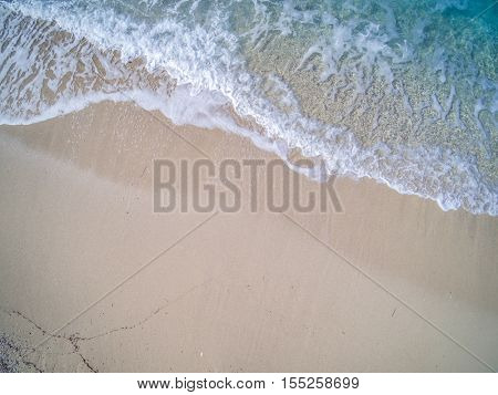 Top View of a drone at the  Beach