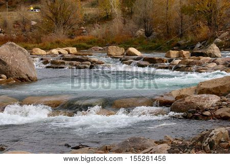 Fall on Animas River in Durango, Colorado
