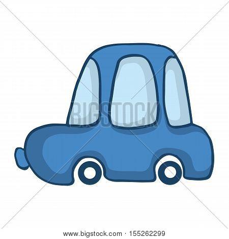 Blue car for kids design vector illustration