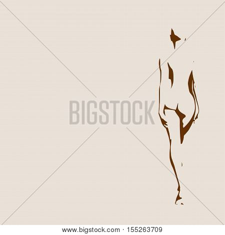 Sexy women silhouettes. Fashion mannequin isolated. Female figure posing.