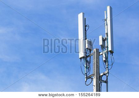 Pole mobile internet wifi with blue sky