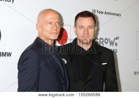 LOS ANGELES - NOV 5:  Scott Fifer, Ewan McGregor at the 10th Annual GO Campaign Gala at the Manuela at Hauser Wirth & Schimmel on November 5, 2016 in Los Angeles, CA