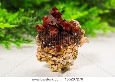 vanadinite stone mineral specimen the natural geology