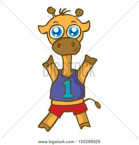 Sport giraffe cartoon design for kids vector illustration