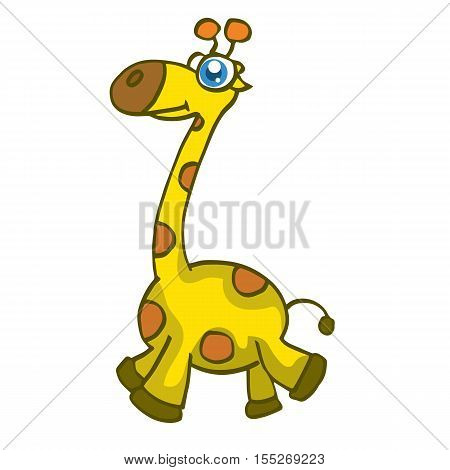Cute giraffe cartoon walking design vector illustration