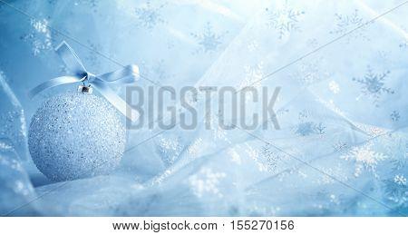Christmas ball on abstract background