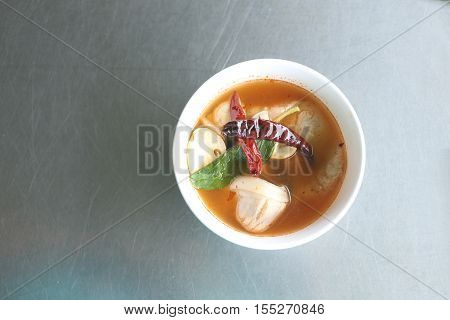 Thai spicy food of TOM YUMtom yum is local foods in Thailand.