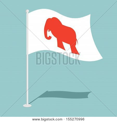 Republican elephant Flag. National flag of presidential election in America