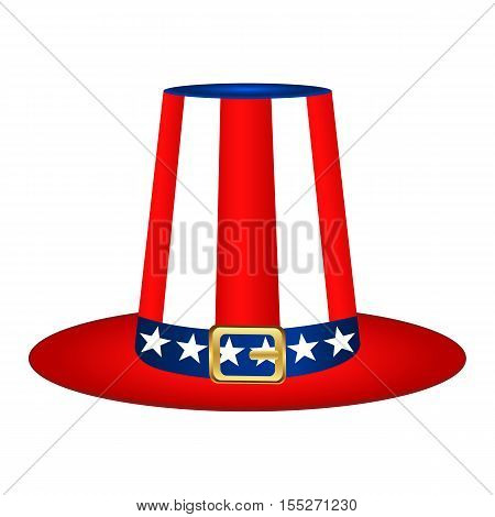 Hat with American flag image on white background vector