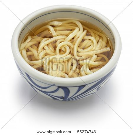 kake udon, japanese udon noodles in broth