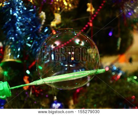 objects, holiday, bubble, bubble, flying, soap, reflection, New year, childhood, event, joy, game