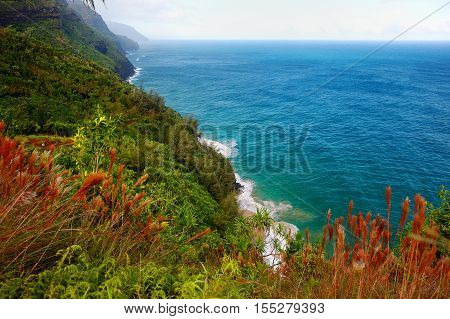Stunning View From Kalalau Trail In Kauai
