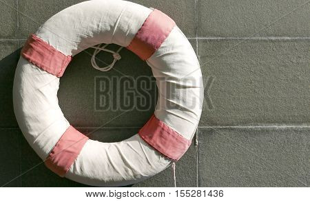 Red And White Lifesaver Near Swimming Pool