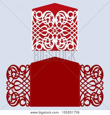 Card for laser cutting vs die cutting. Laser Cut wedding invitation card