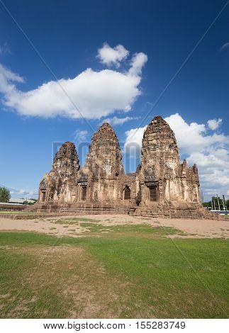 Phra Prang Sam Yot Temple, Architecture In Lopburi, Thailand