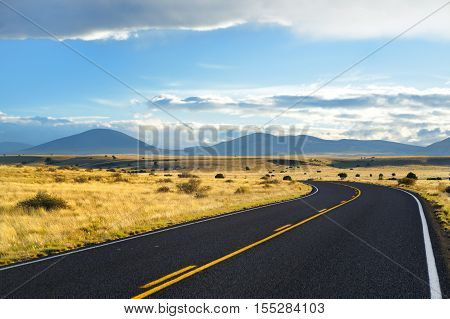 Beautiful Endless Wavy Road In Arizona Desert