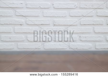 Outdoor white brick wall texture stock photo
