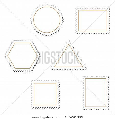 Vector stamps on white background - illustration