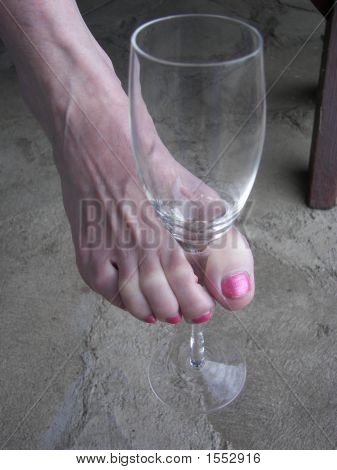 Woman And Wine Glass