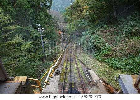 Image Down hill Railroad in wakayama japan