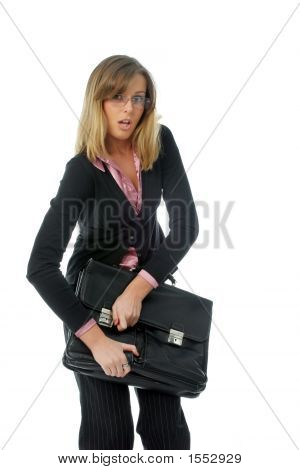 Woman Closing Bag