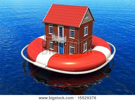 Rescue of real estate concept