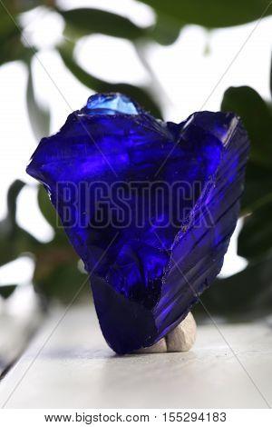 blue obsidian specimen mineral  the natural geology