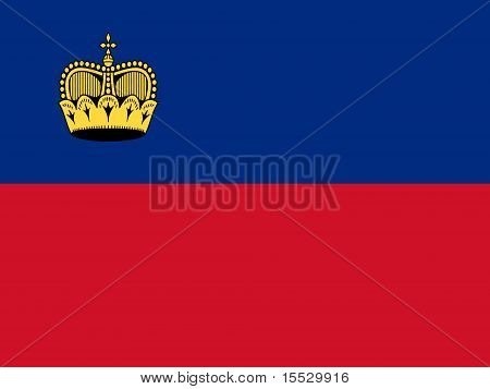 Liechtenstein National Flag