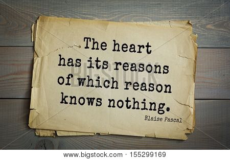Top 50 quotes by Blaise Pascal - a French mathematician, physicist, inventor, writer, philosopher.