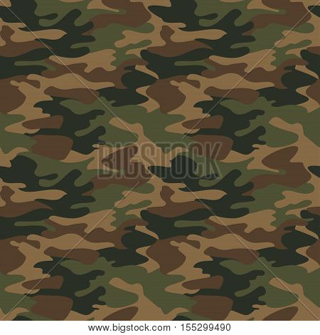 Camouflage pattern background seamless vector, abstract  illustration