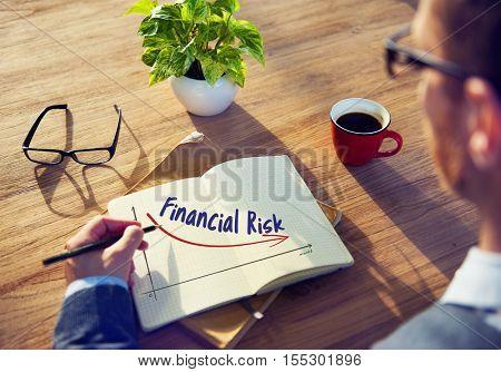 Recession Financial Risk Failure Decrease Concept