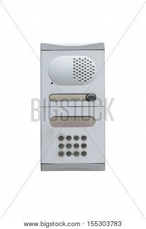 image of intercom isolated on white background