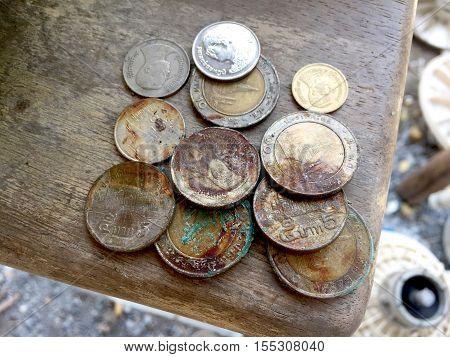 money, silver, penny, fund, purse, argent, medal, coin, dollar, token, piece, specie