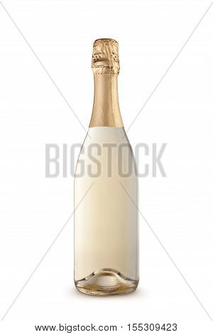 Champagne bottle isolated on a white background.