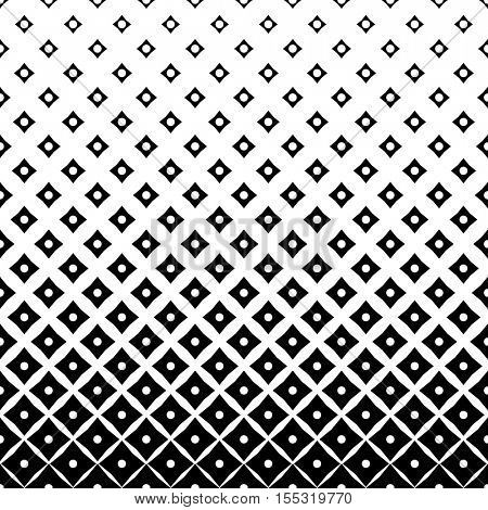 Seamless Square and Circle Pattern. Abstract Black and White Background. Vector Regular Texture. Abstract Brick Surface
